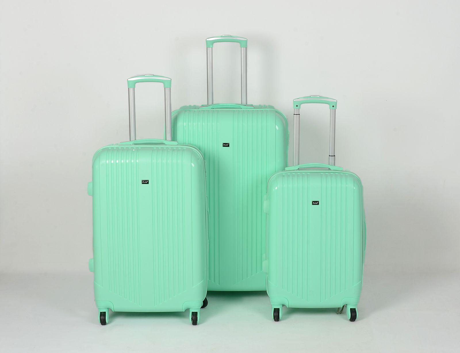 Cestovní kufry sada ABS Trolleykoffer TR-A16 světlo-zelená