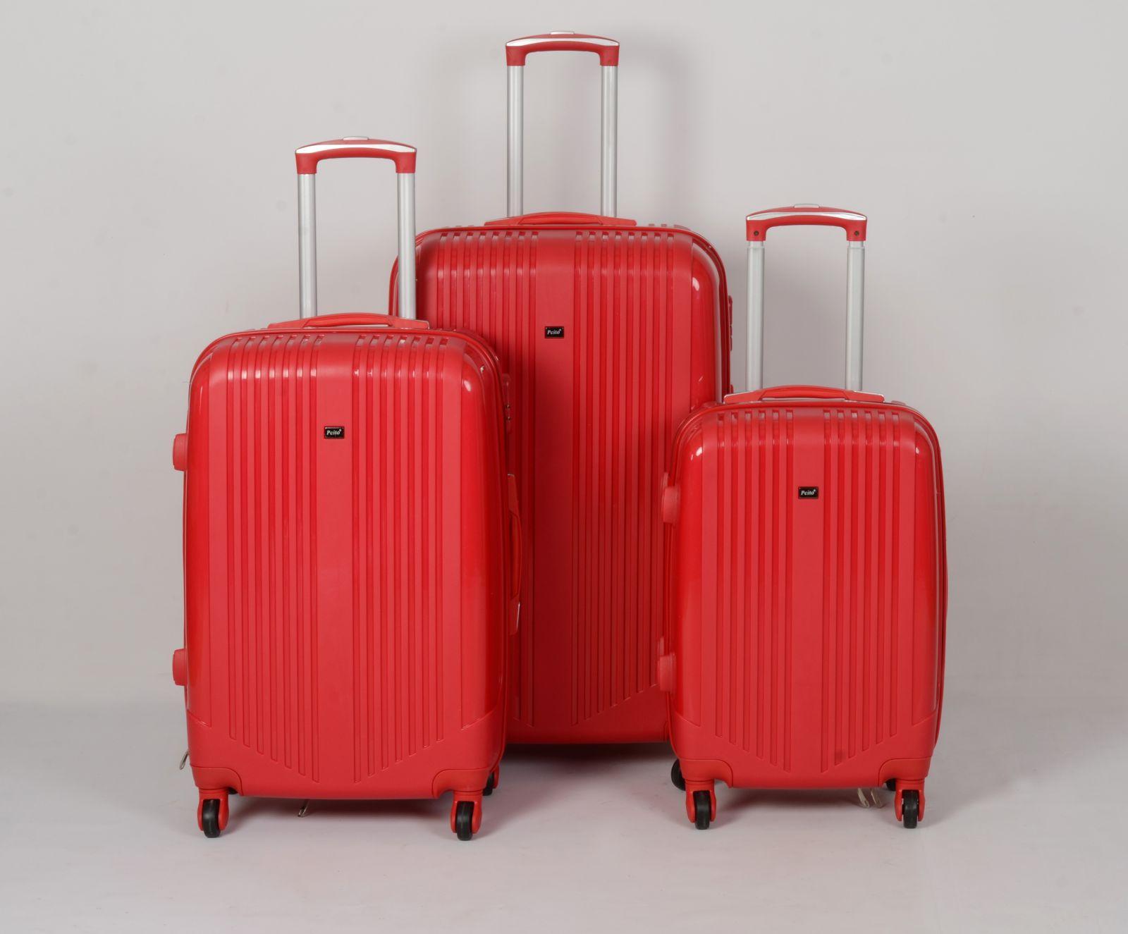Cestovní kufry sada ABS Trolleykoffer TR-A27 červená