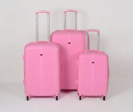 Cestovní kufry sada ABS Trolleykoffer TR-A27 růžová