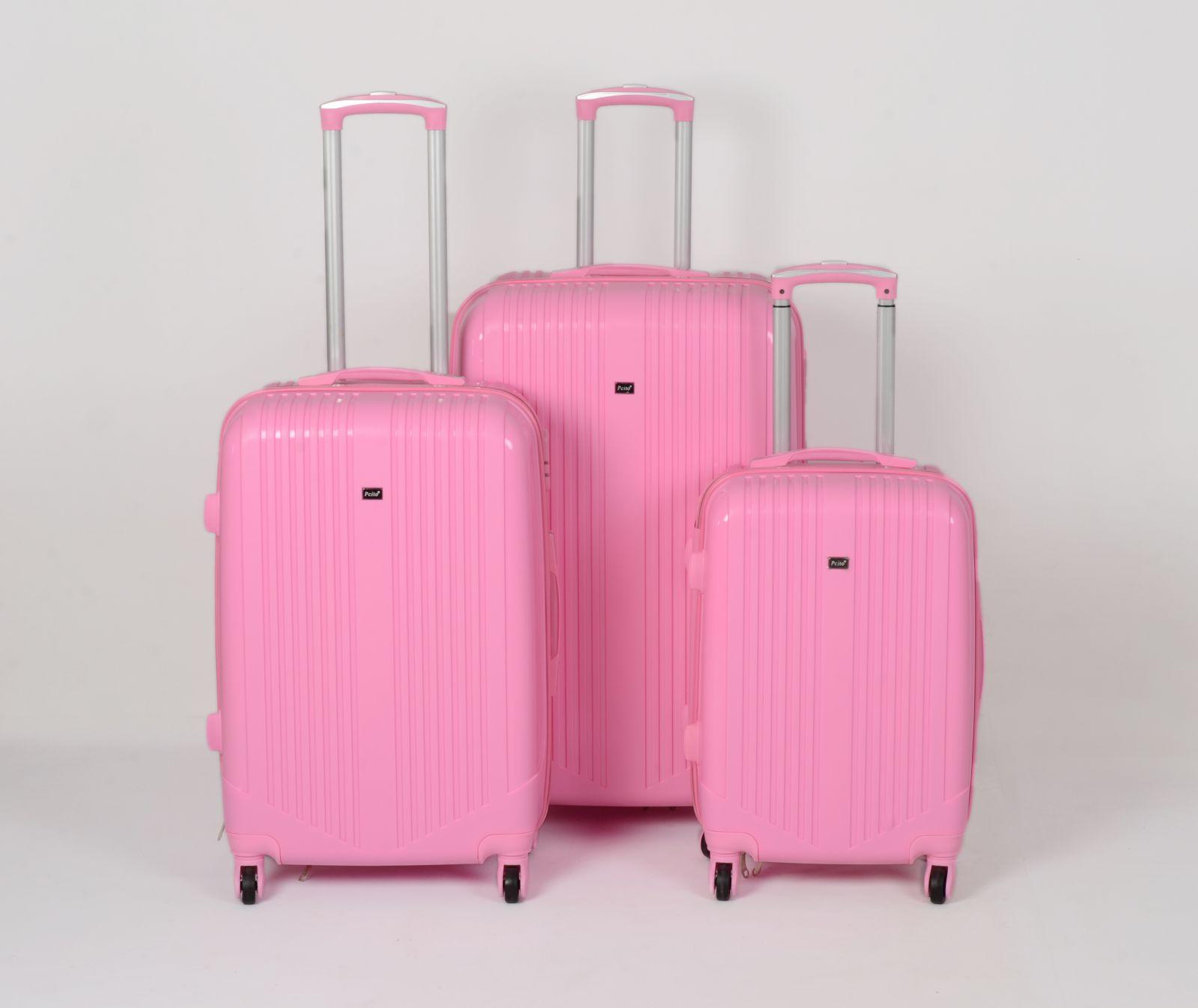 Cestovní kufry sada ABS Trolleykoffer TR-A16 růžová