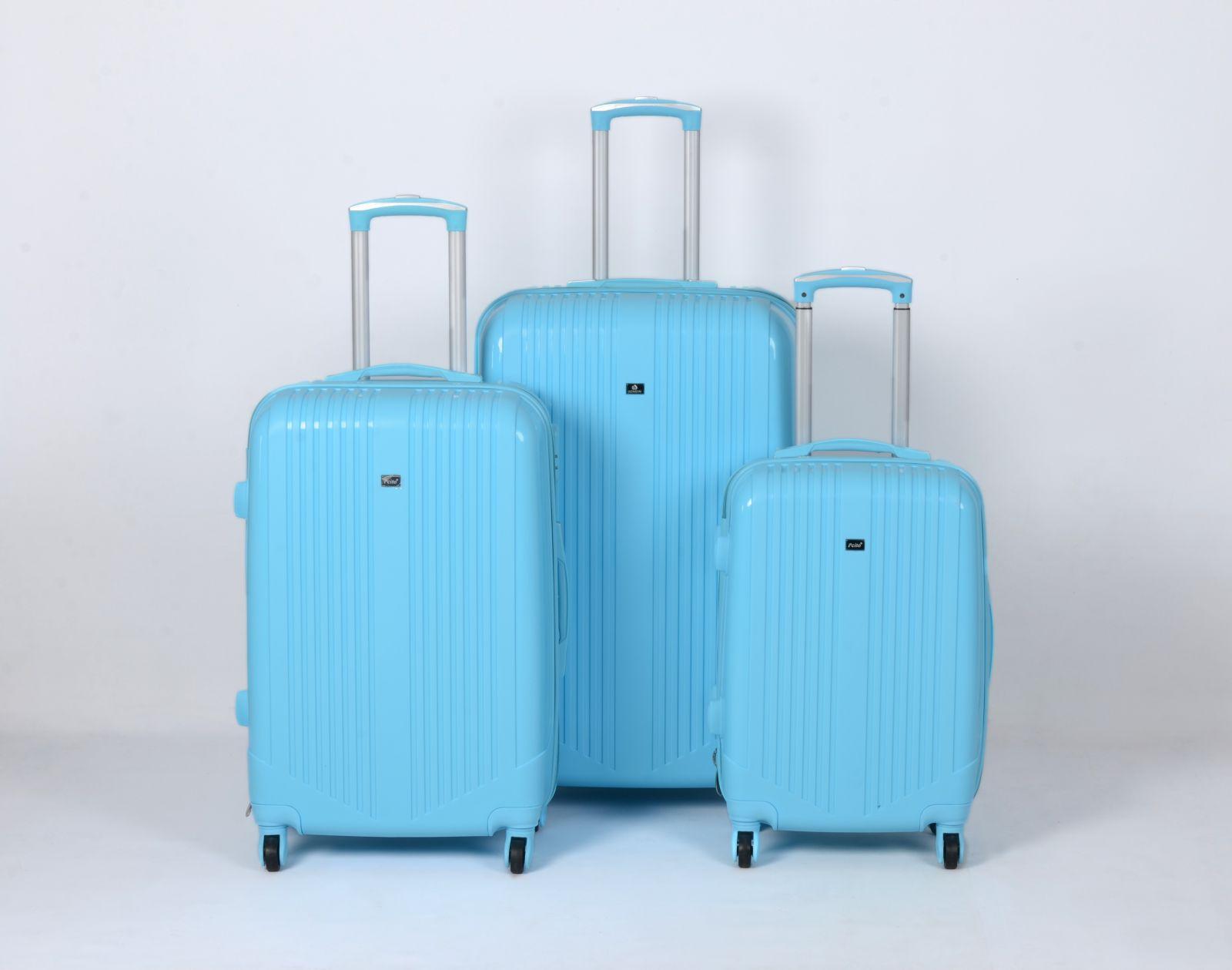 Cestovní kufry sada ABS Trolleykoffer TR-A16 modrý