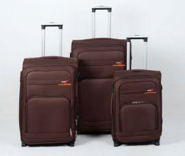 Trolley-CASE TC-B15  sada 3 kufru hnědá
