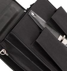 Aktovka REAbags 8001/1-T - černá/nikl E-batoh