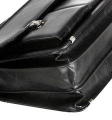 Aktovka REAbags 8001/2-TR - černá/nikl E-batoh