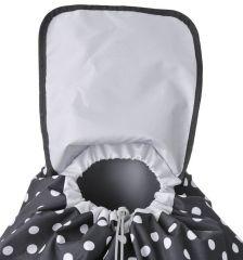 Nákupní taška na kolečkách HOPPA ST-205 - černá E-batoh
