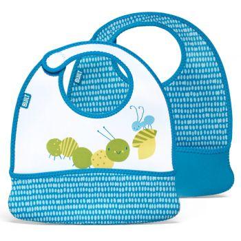 Built Toddler Bib Dribble Dots Blue