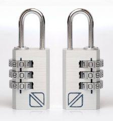 Bezpečnostní kódové zámky na zavazadla TravelBlue 2ks TB032 - stříbrné