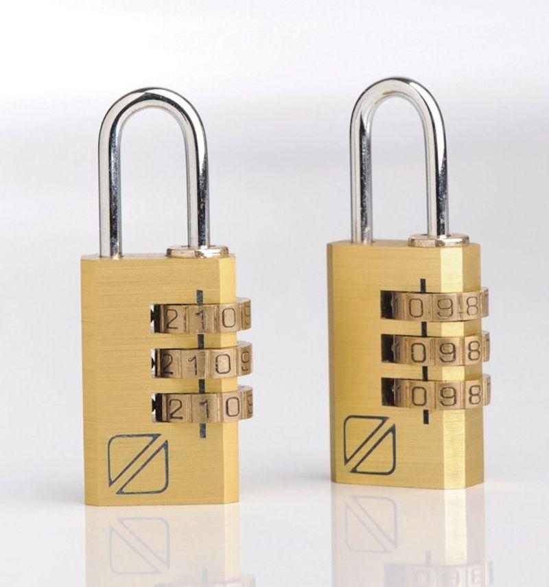 Bezpečnostní kódové zámky na zavazadla TravelBlue 2ks TB032 - zlaté