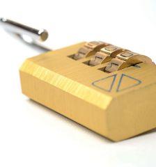 Bezpečnostní kódové zámky na zavazadla TravelBlue 2ks TB032 - zlaté E-batoh