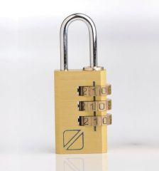 Bezpečnostní kódový zámek na zavazadla TravelBlue TB031 - zlatá