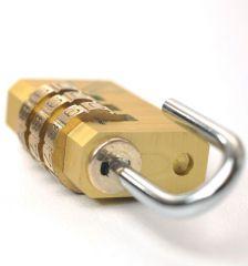 Bezpečnostní kódový zámek na zavazadla TravelBlue TB031 - zlatá E-batoh
