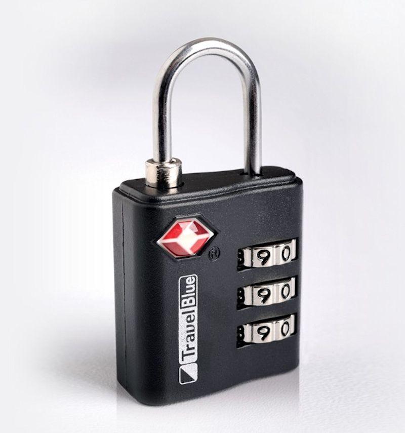 Bezpečnostní TSA kódový zámek na zavazadla TravelBlue TB036 - černá E-batoh