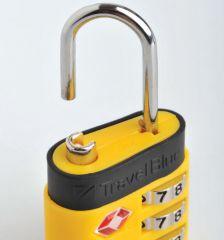 Bezpečnostní TSA kódový zámek na zavazadla TravelBlue TB037 - žlutá E-batoh
