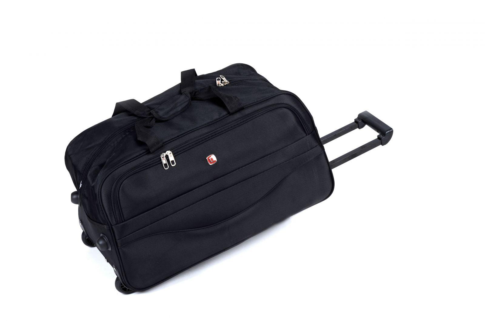 Cestovní taška na kolečkách GLORY velká černá E-batoh