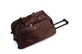 Cestovní taška na kolečkách GLORY velká hnědá