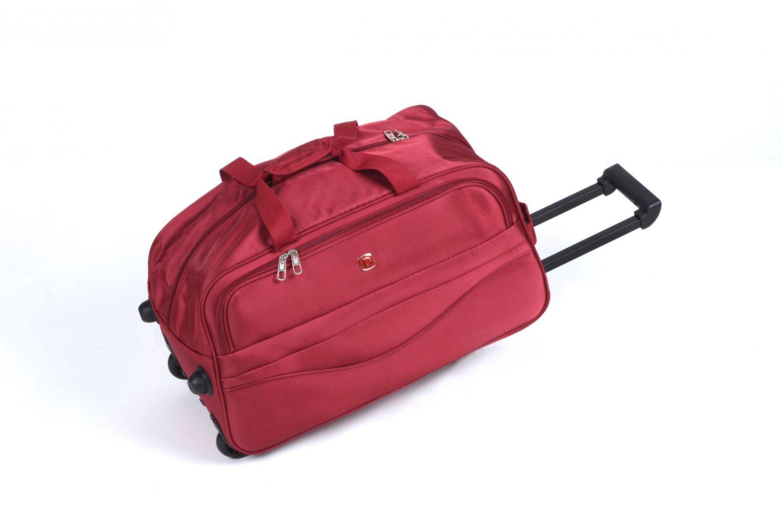 Cestovní taška na kolečkách GLORY střední červená E-batoh