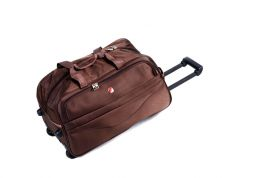Cestovní taška na kolečkách GLORY střední hnědá