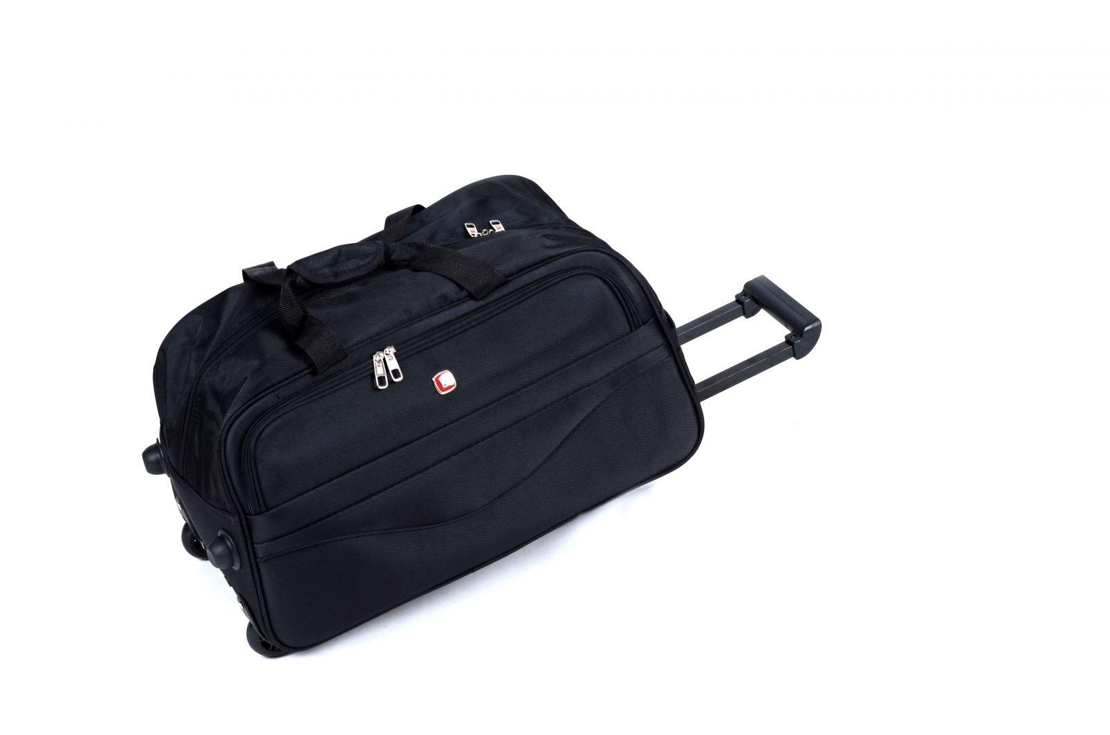 Cestovní taška na kolečkách GLORY střední černá E-batoh