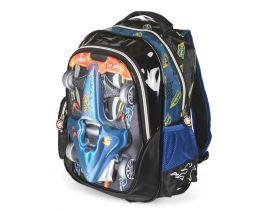 Školní batoh 3D obrázek SUPER RACING