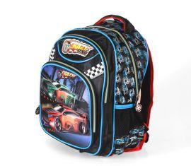 Školní batoh 3D obrázek CRAZY CAR DUBLE 2