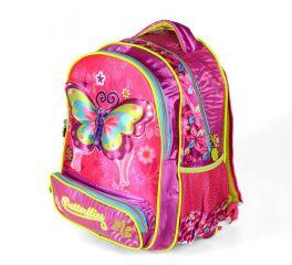Školní batoh 3D obrázek BUTTERFLIES
