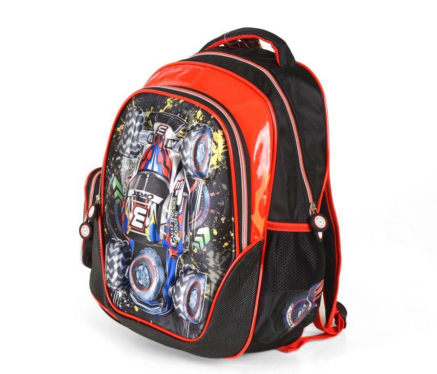 4d97ba67b76 Školní batoh 3D obrázek KINGER CAR E-batoh