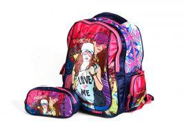 Školní batoh 3D obrázek FASHION GIRL