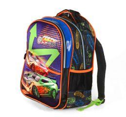 Školní batoh 3D obrázek CRAZY CAR DUBLE