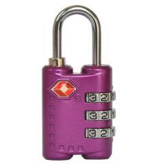 Visací kódový zámek TSA - fialová