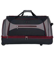 """Cestovní taška na kolečkách SIROCCO T-7554/30"""" - černá/šedá/červená AZURE E-batoh"""