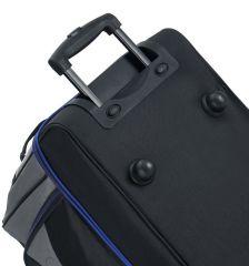 """Cestovní taška na kolečkách SIROCCO T-7554/30"""" - černá/šedá/modrá AZURE E-batoh"""