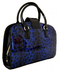 Lesklá modrá kabelka do ruky fasco Berlin 2002-879 E-batoh