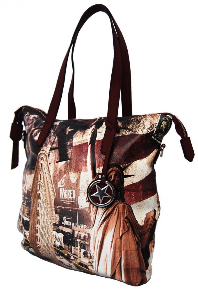 Velká dámská kabelka se sochou svobody 404-BB BELLA BELLY E-batoh