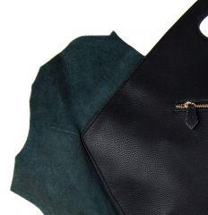 Kožená velká kabelka fasco Berlin Fish Design 68635 fialová E-batoh