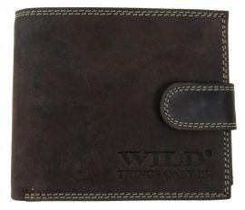 Pánská peněženka z broušené kůže WILD 985 tmavě hnědá