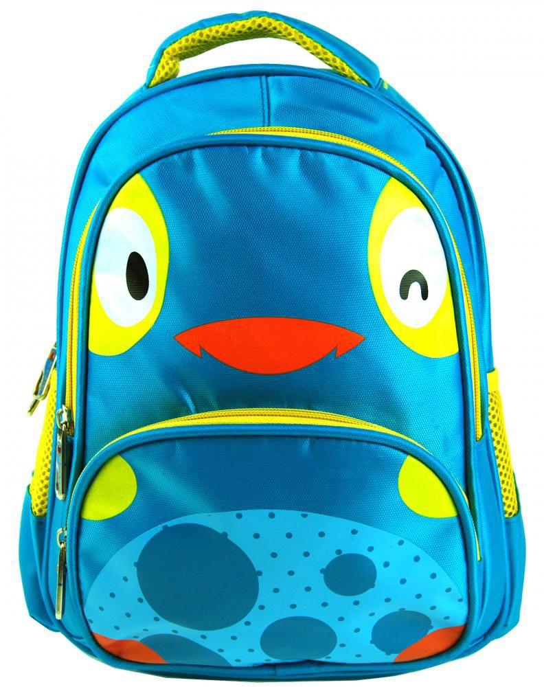 Dětský batoh L12001 modro-žluté kuřátko New Berry E-batoh