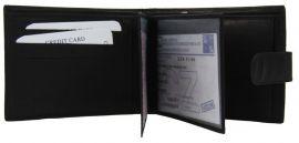 Pánská peněženka z vepřové kůže New Berry 885 černá E-batoh