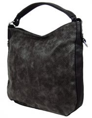 Šmrncovní kabelka na rameno z broušené kůže TH2011 černá