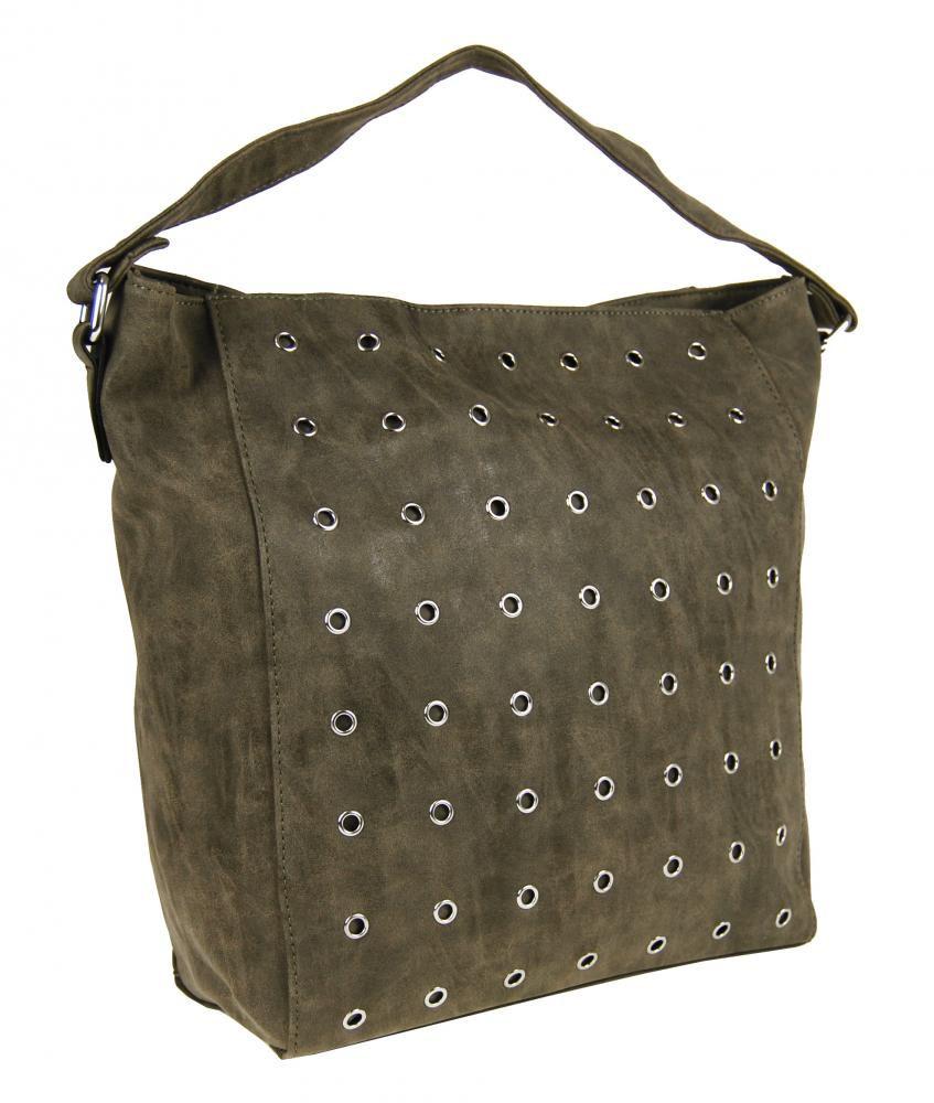 Broušená kabelka na rameno M9001 přírodní hnědá Tapple E-batoh
