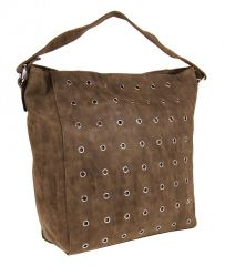 Hnědá broušená kabelka na rameno M9001