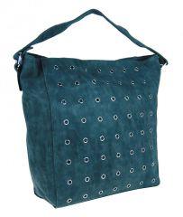 Modrá broušená kabelka na rameno M9001