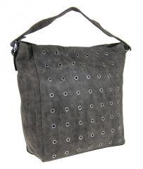 Šedá broušená kabelka na rameno M9001