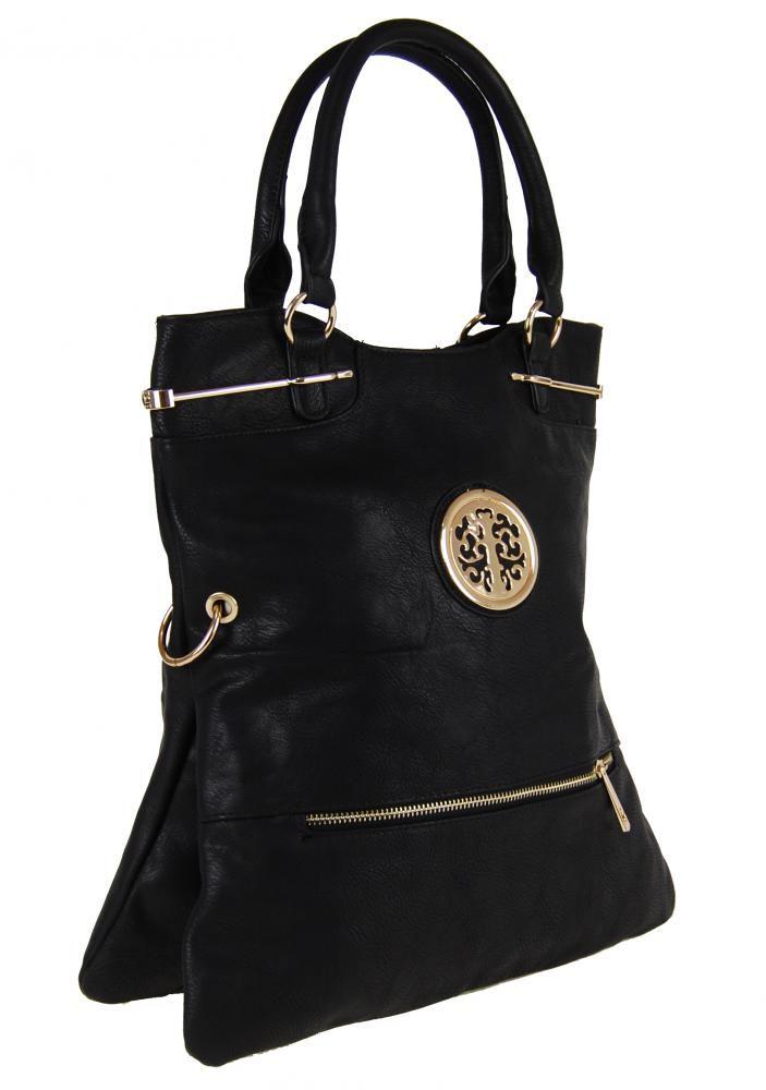 Moderní kabelka do ruky se zlatými doplňky C005 černá Tapple E-batoh