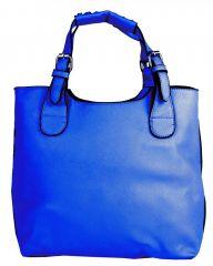 Módní shopper kabelka do ruky 3036 modrá